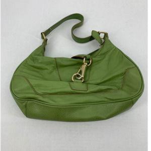 Wilson leather green shoulder bag